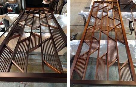 中式不锈钢花格 家装 工程不锈钢花格隔断