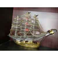 大帆船造型玻璃酒瓶xo海盗船玻璃工艺酒瓶个性玻璃洋酒瓶