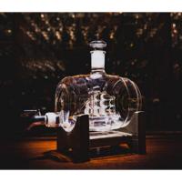酒桶造型玻璃酒瓶xo白酒瓶工艺玻璃酒瓶吹制酒瓶异形玻璃酒瓶